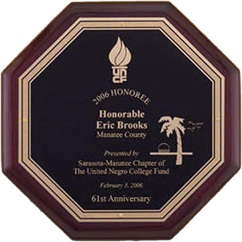 Rosewood Octagon Plaque
