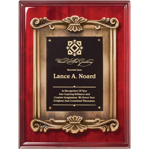 Rosewood Scroll Plaque