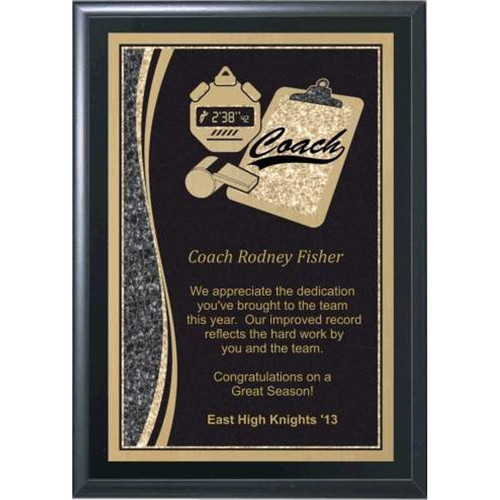 "5"" x 7"" Coaches Plaque with Tools"