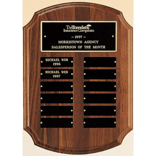 Notched Corner Perpetual Plaque