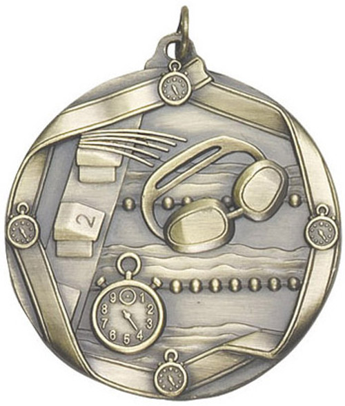 Ribbon Swimming Medal
