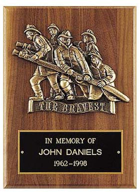 The Bravest Fireman Plaque