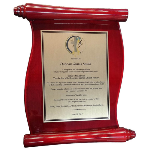 Full Color Scroll Plaque