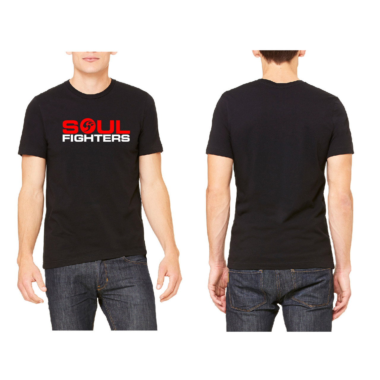 Brand new Men's Black Chest Logo T-shirt - SoulFighters QX62
