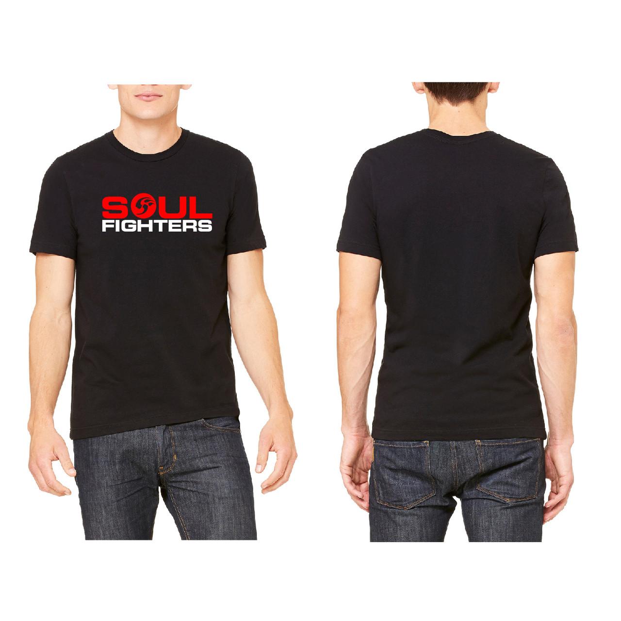 Brand new Men's Black Chest Logo T-shirt - SoulFighters QX62