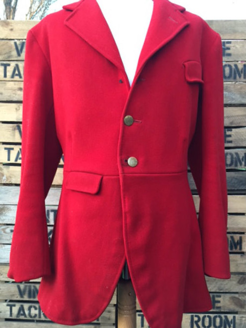 Vintage Gent's Bespoke Red Hunt Coat, 38""