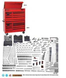 Bahco Williams 597 Pcs Monster SAE & Metric Tool Set With Storage WSMSC-595TB