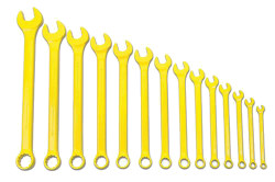 Williams Supercombo Comb Wrench Set, High Visibility Yellow 14 Piece WS-1172YSC