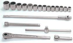 "Williams 1"" Drive Socket Tool Set - 12 Pt - 19 Piece"