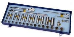 "10 - 24MM Shallow & 13 - 30 Deep Williams 1/2"" Dr Socket & Tool Set 12 Pt 33 Pcs & Tool Box - MSS-33FTB"