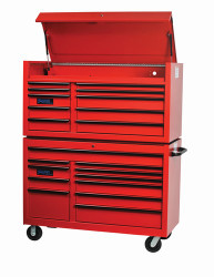 """55"""" Williams Roller Cabinet - 11 Drawer - Red W55RC11"""