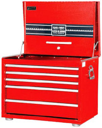 "26"" Williams Extra-Heavy Duty Roadbox - 5 Drawer - Red 50946RED"