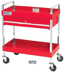 "30"" Williams Service Cart with Locking - 2 Drawer- Red - 50723"