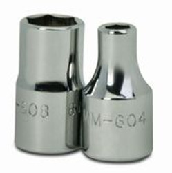 "4MM Williams 1/4"" Dr Deep Socket 6 Pt - MMD-604"