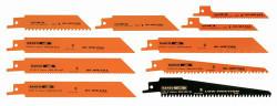 Bahco Bi-Metal Reciprocating Sawblade Set 10 Pcs - RECIP-SET-10
