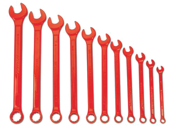 Williams Supercombo Comb Wrench Set, High Visibility Red 11 Piece WS-1171RSC