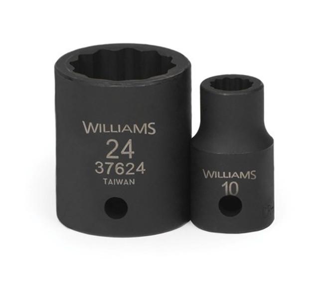 "10MM Williams 1/2"" Dr Shallow Impact Socket 12 Pt - 37610"