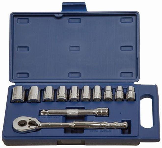 "12 -24MM Williams 1/2"" Dr Shallow Socket & Tool Set 12 Pt 12 Pcs - 50669"
