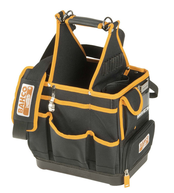 "12"" Bahco Electrician's Bag with Hard Bottom - 4750FB3-12"