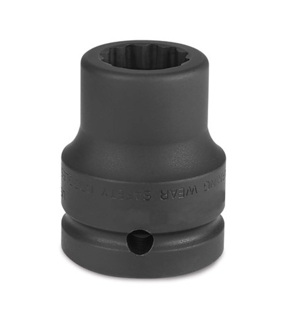 "25MM Williams Black 3/4"" Dr Shallow Impact Socket 12 Pt - 6M-1225"
