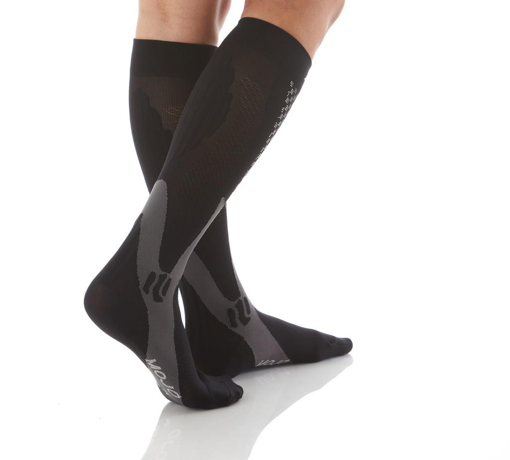 A602BL, Firm Support (20-30mmHg)  Knee High Compression Socks, Back View