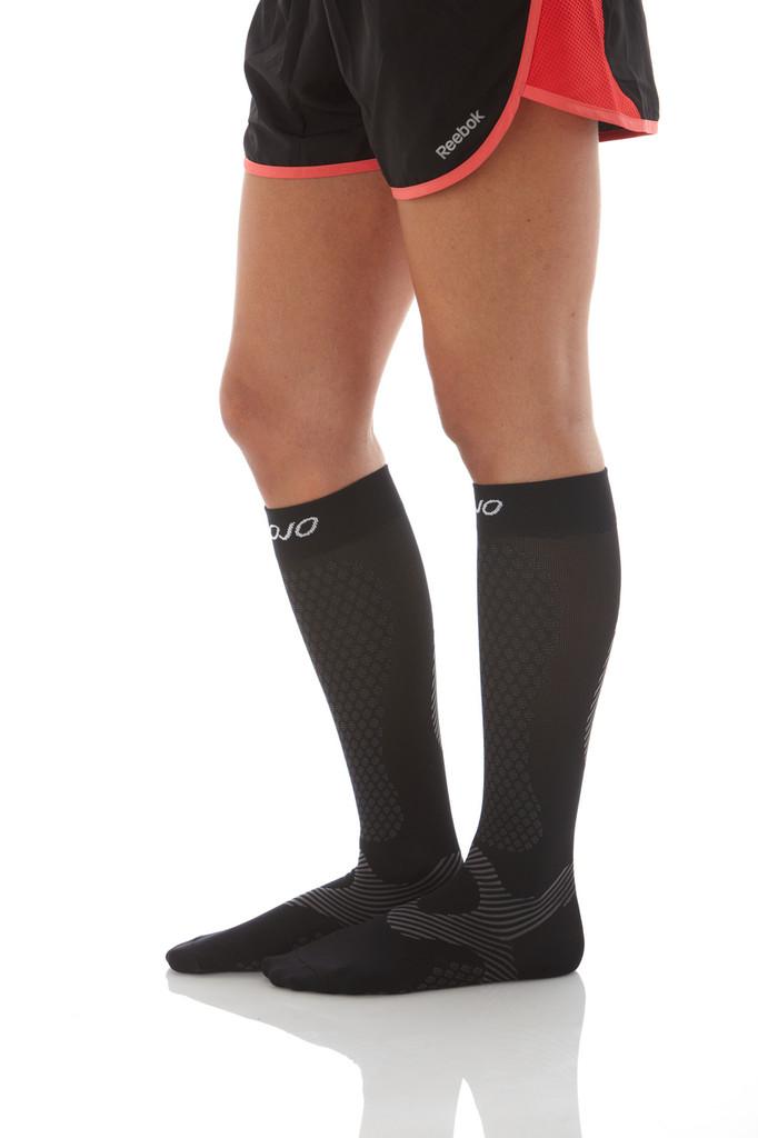Knee-High Athletic Compression Socks -- Medium Support (15-20mmHg )