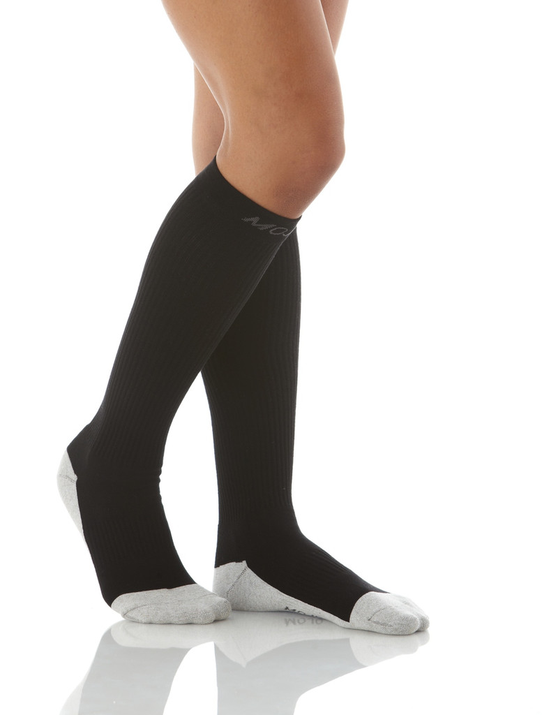 A506BL, Firm Support (20-30mmHg)  Knee High Compression Socks, Rear View