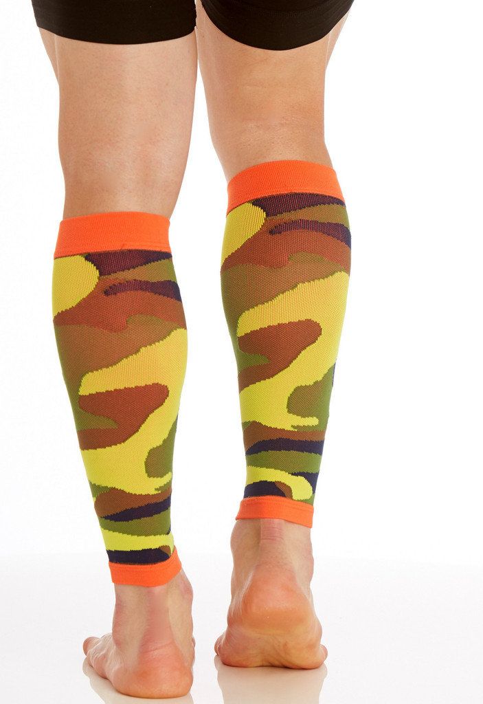 CAMOSLEEVECO, Firm Support (20-30mmHg)  Knee High Compression Socks, Back View