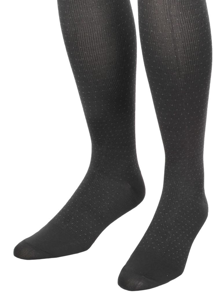 A902BL, Medium Support (15-20mmHg) Black Knee High Compression Socks, Rear View