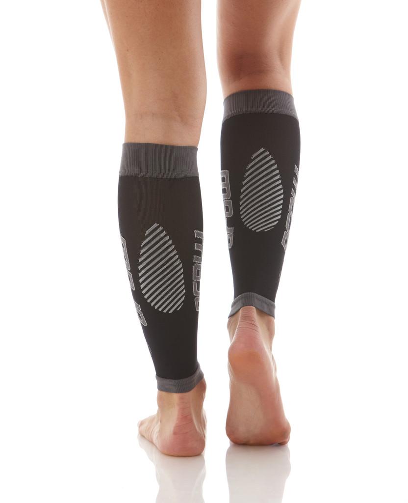 A606BG, Firm Support (20-30mmHg) Black Knee High Compression Socks, Back View