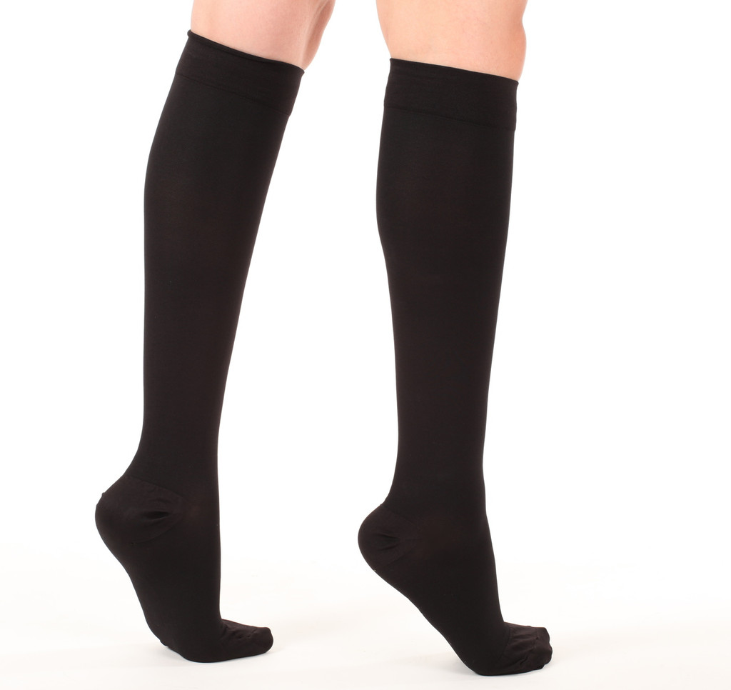 Opaque Closed-Toe Compression Socks