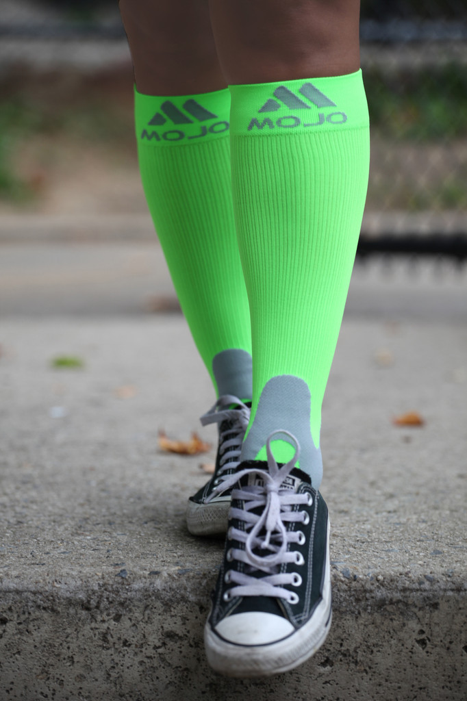 Elite Coolmax Performance & Recovery Compression Socks - Neon Green