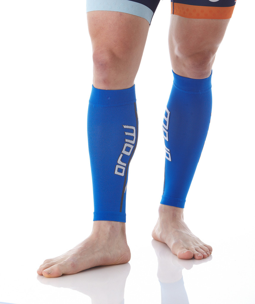 A607Blue, Firm Support (20-30mmHg) Blue Knee High Compression Socks, Front View