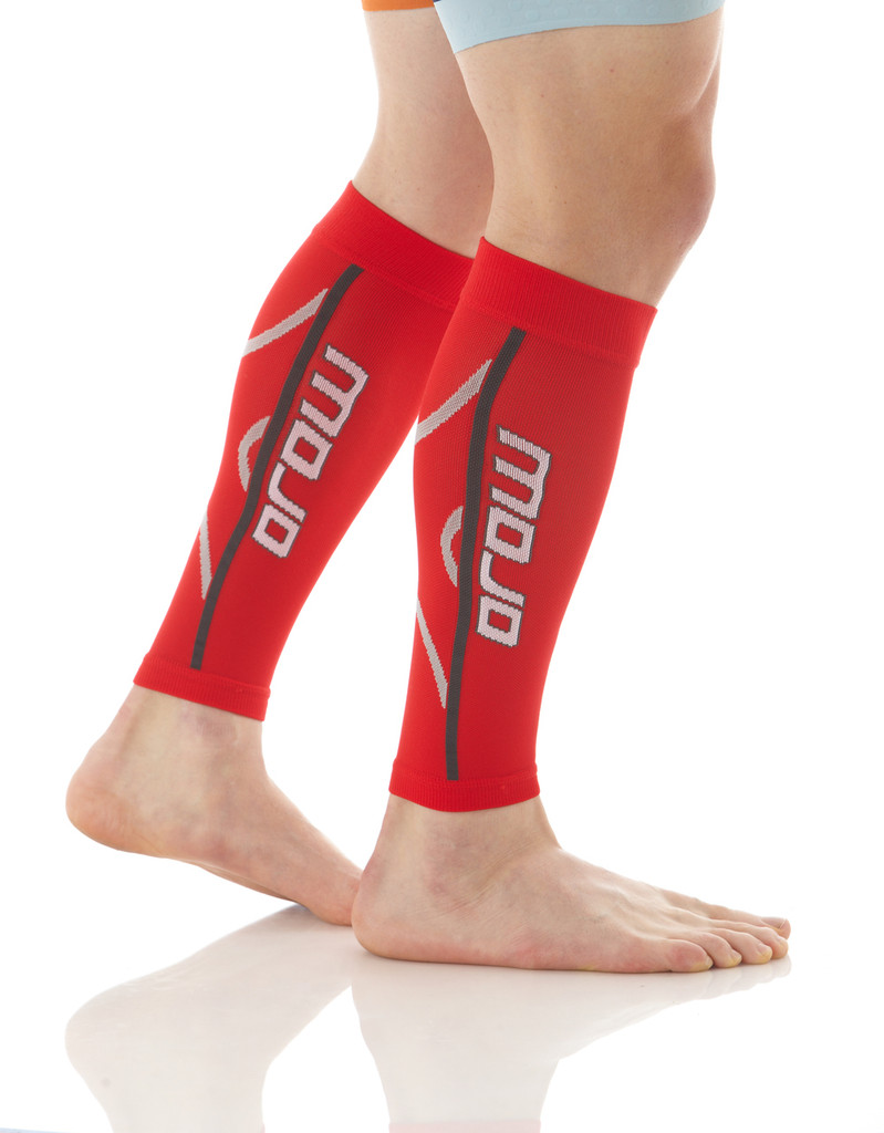 A607RED, Firm Support (20-30mmHg) Red Knee High Compression Socks, Side View