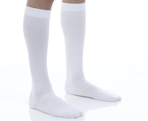 Cotton Graduated Compression Travel Socks