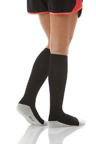 Silver Soled Anti-Microbial Compression Socks Black