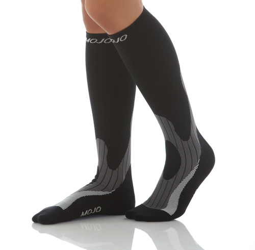 Mojo Elite - Endurance Compression Socks With Extra Foot Padding -- Firm Support (20-30mmHg)