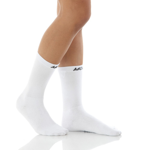 CoolMax Crew Length Compression Sock White