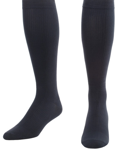 Men's Opaque Compression Socks Firm Support (20-30mmHg) Navy