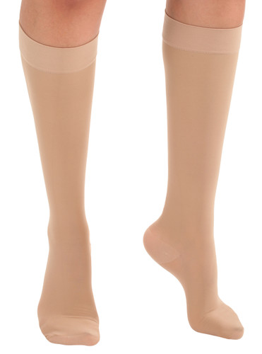 Mojo Dress - Unisex Opaque & Sheer Compression Socks - Firm Compression (20-30mmHg) Natural