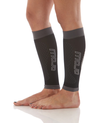 Mojo Compression Socks™ Calf Compression Sleeves and Shin Splint Supports Firm Support 20-30mmHg Black/Grey