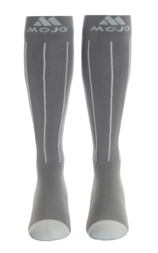 Mojo Compression Socks™ Charcoal and Light Gray Pin Stripe Compression Socks