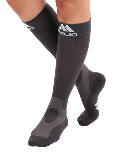 Elite Coolmax Performance & Recovery Compression Socks - Gray