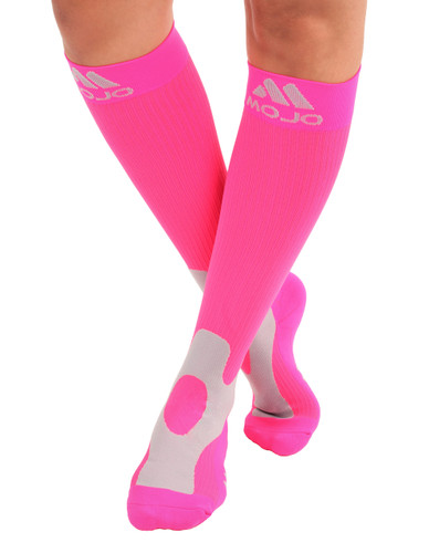 Mojo Compression Socks™ Elite Coolmax Performance & Recovery Compression Socks - Hot Pink