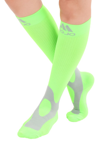 Mojo Compression Socks™ Elite Coolmax Performance & Recovery Compression Socks - Neon Green