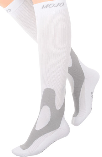 Mojo Compression Socks™ Elite Coolmax Performance & Recovery Compression Socks - White