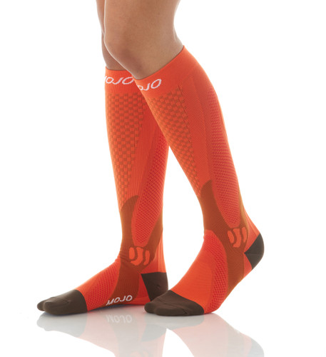 Elite Recovery & Performance Compression Socks - Orange