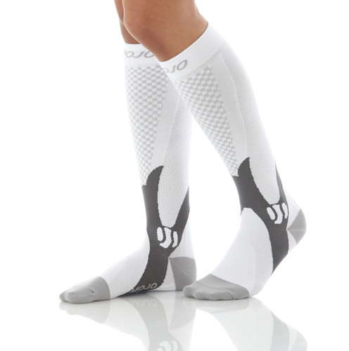 Elite Recovery & Performance Compression Socks - White
