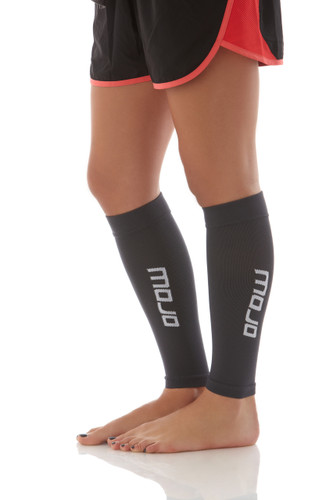 Mojo Compression Socks™ Elite Graduated Compression Calf Sleeves - Gray
