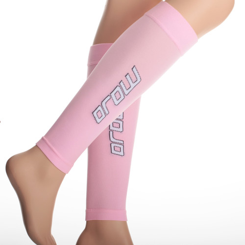 Elite Graduated Compression Calf Sleeves - Pink